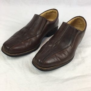 Sandro Moscoloni Men's Brown Leather Loafers